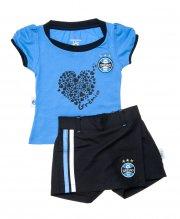 Conjunto Shorts Saia e Baby Look