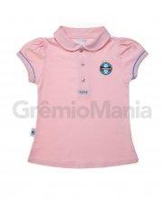 Camiseta Polo Menina Rosa